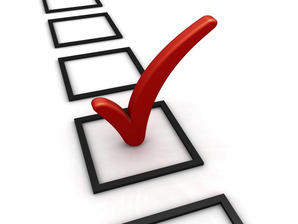 red checkmark topics vote