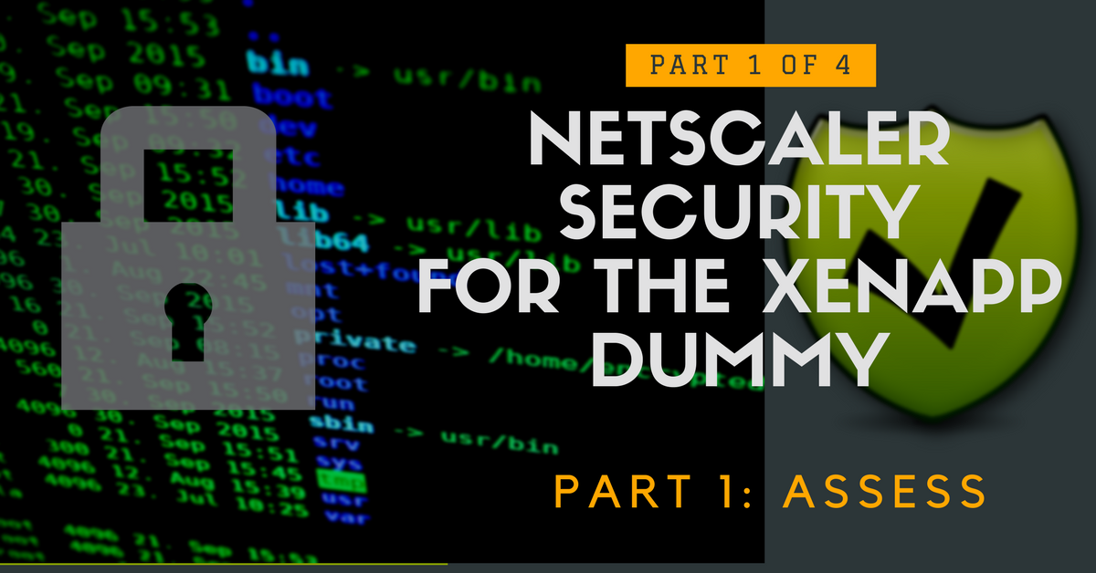 NetScaler Security for the XenApp Dummy – Part 1: Assess