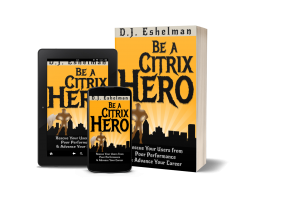 mockup of Be A Citrix Hero Book, Ebook and phone